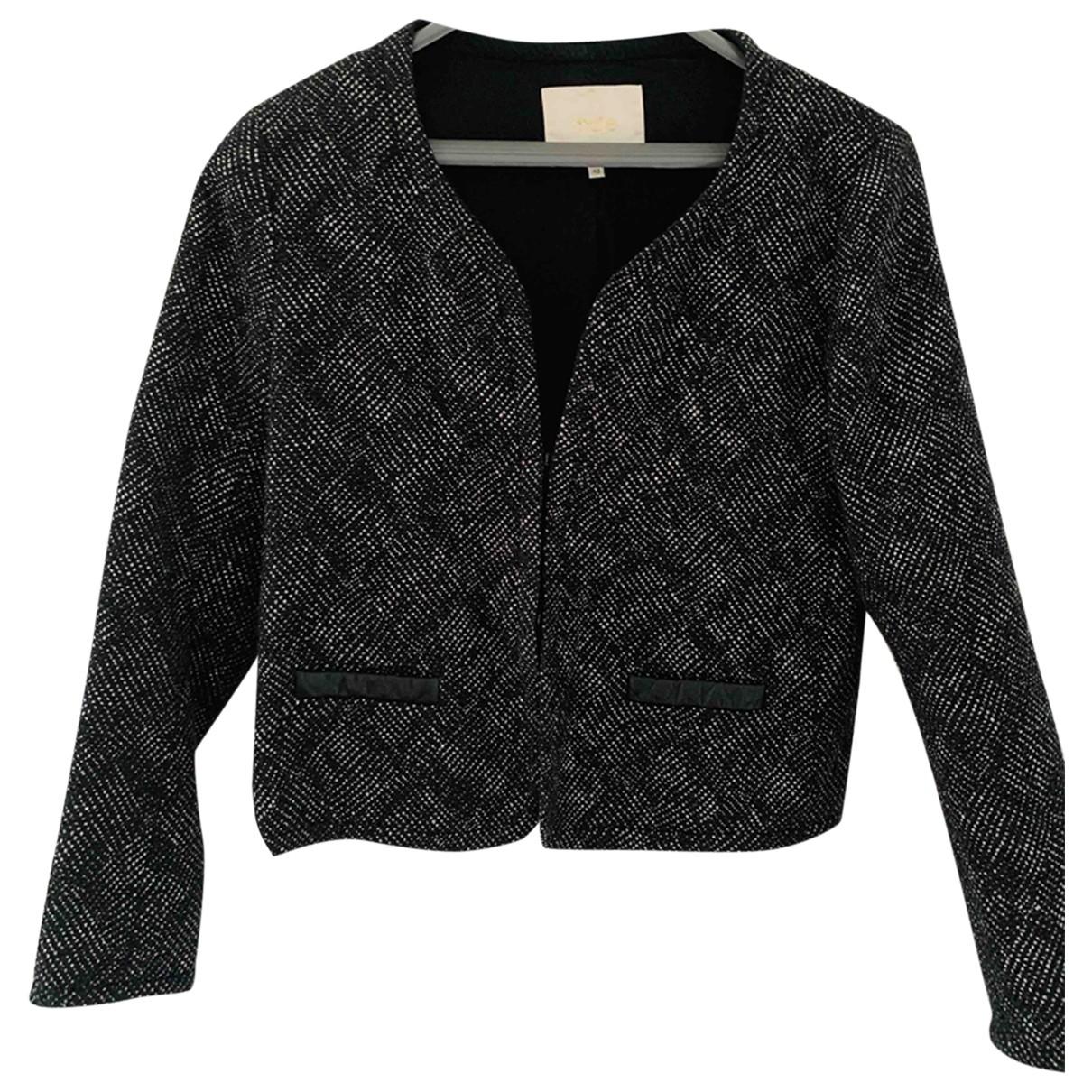 Maje - Veste Fall Winter 2019 pour femme en laine - metallise