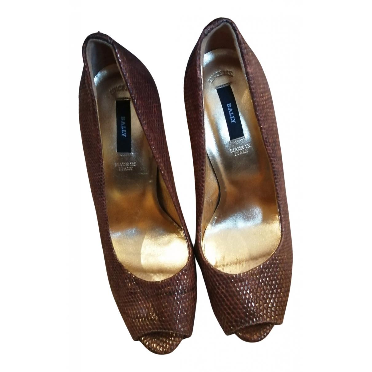 Bally N Leather Heels for Women 37 EU