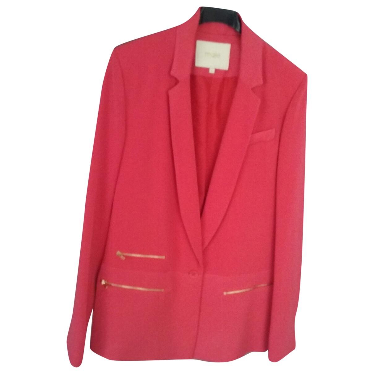 Maje \N Jacke in  Rot Polyester