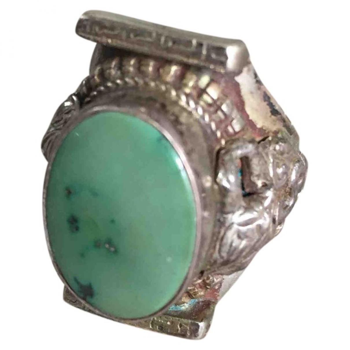 Non Signe / Unsigned Turquoises Ring in  Tuerkis Versilbert