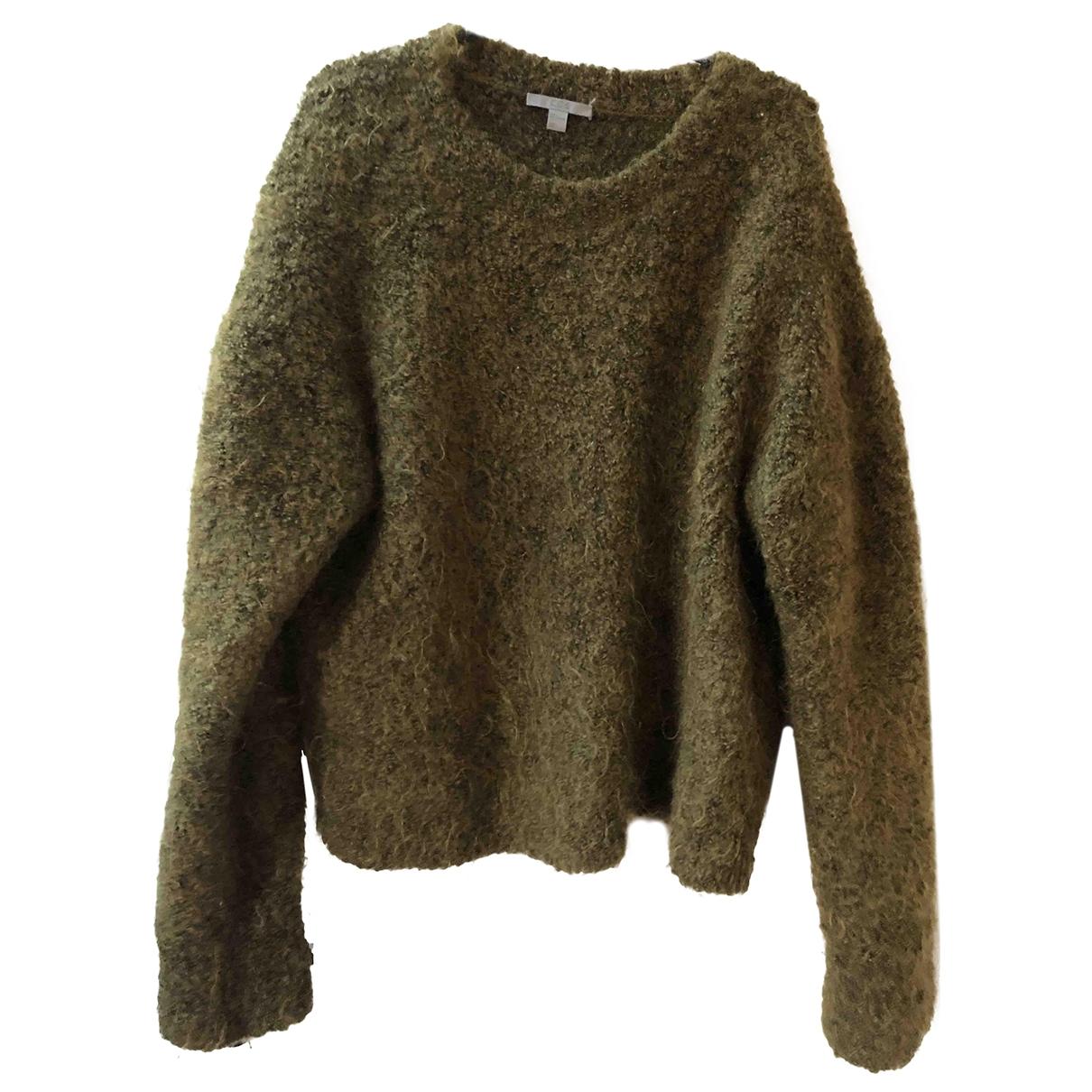 Cos - Pull   pour femme en laine - vert