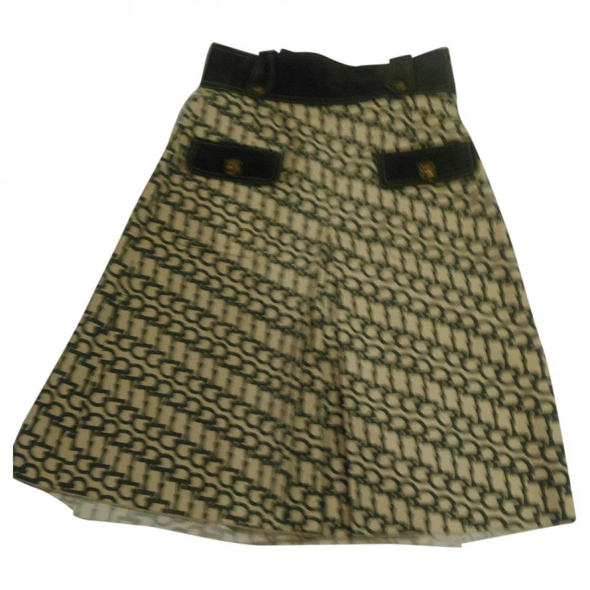 Gucci - Jupe   pour femme en laine - kaki