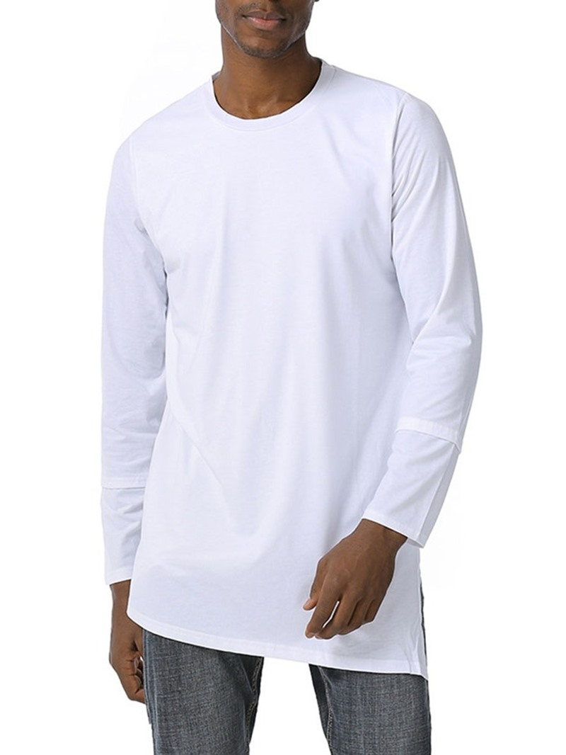Ericdress Round Neck Plain Casual Pullover Long Sleeve T-shirt