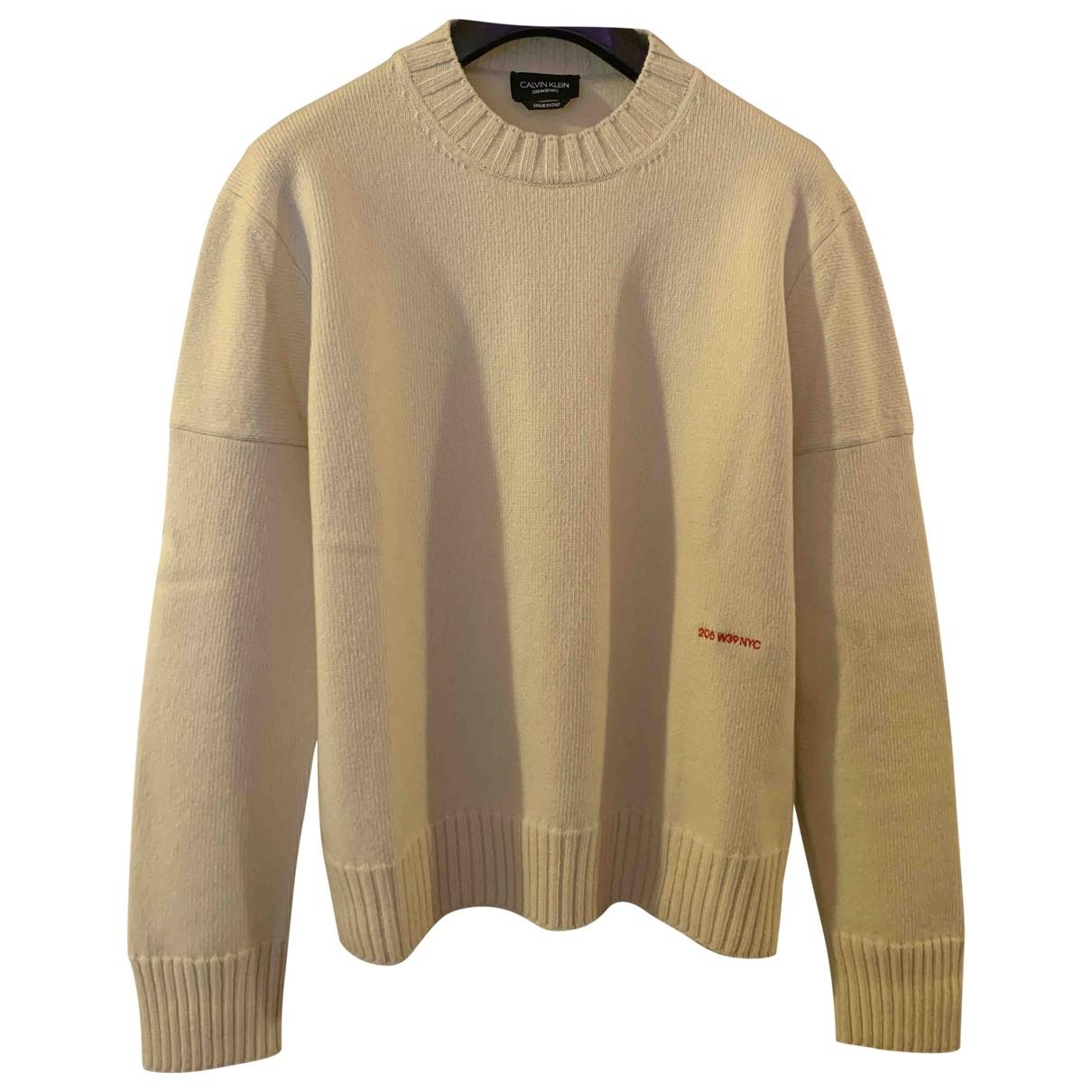 Calvin Klein 205w39nyc \N Pullover.Westen.Sweatshirts  in  Weiss Kaschmir
