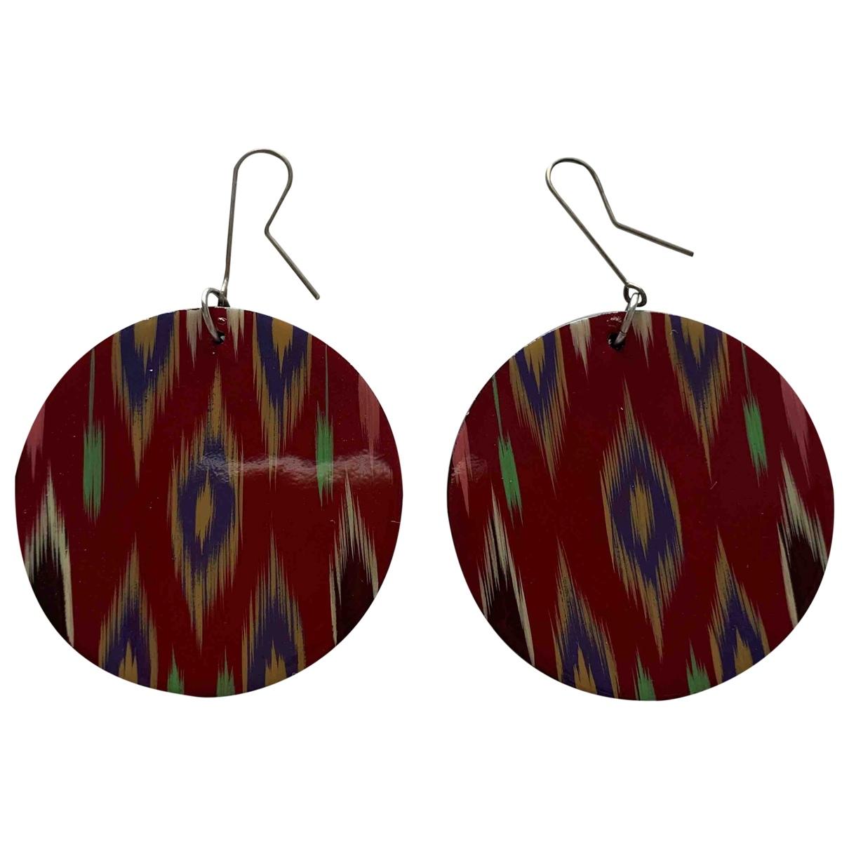 - Boucles doreilles Motifs Ethniques pour femme - rouge