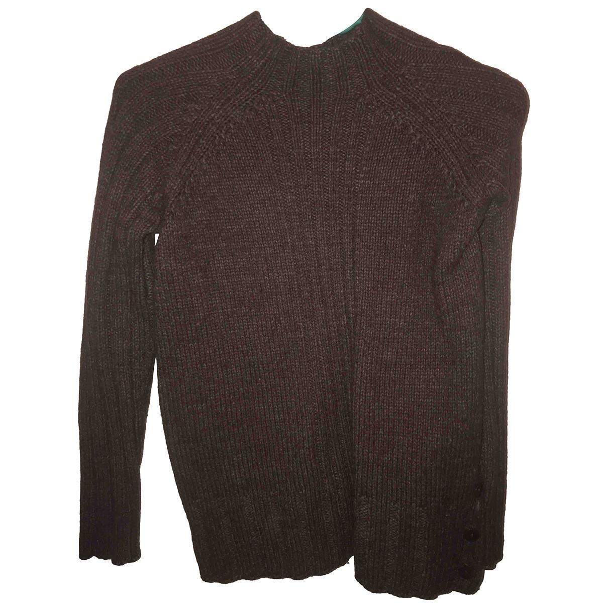 Armor-lux - Pull   pour femme en laine - marron
