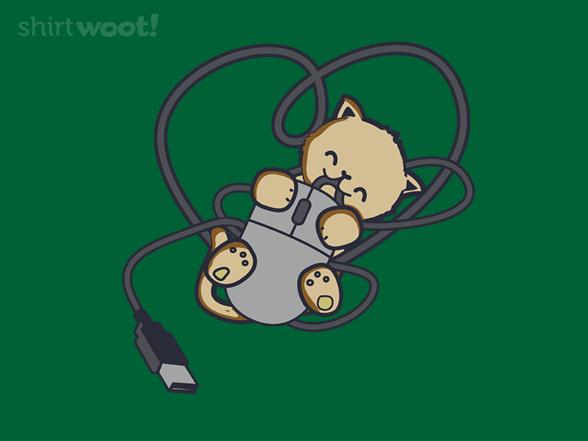 Cat Heart Mouse T Shirt