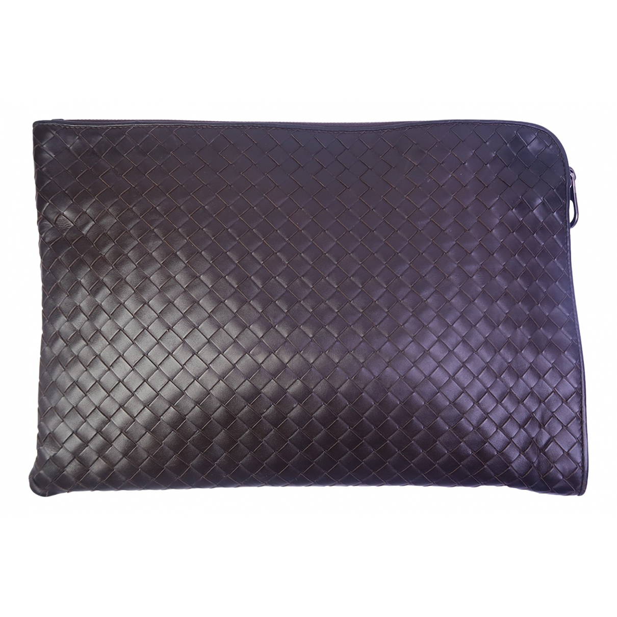 Bottega Veneta \N Clutch in  Braun Leder