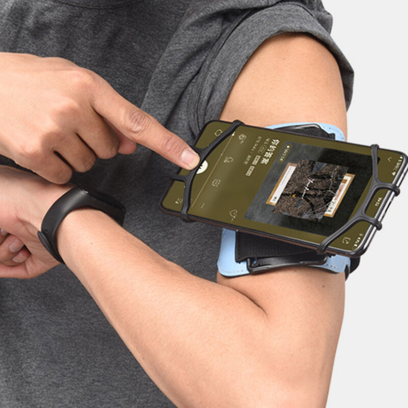 Rotating Silicone Belt Running Mobile Phone Outdoor Sports Arm Bag Arm Bag