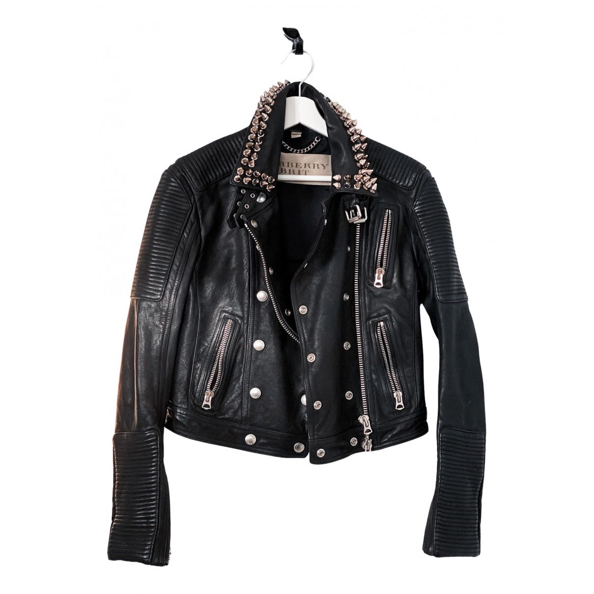 Burberry N Black Leather Leather jacket for Women 40 IT