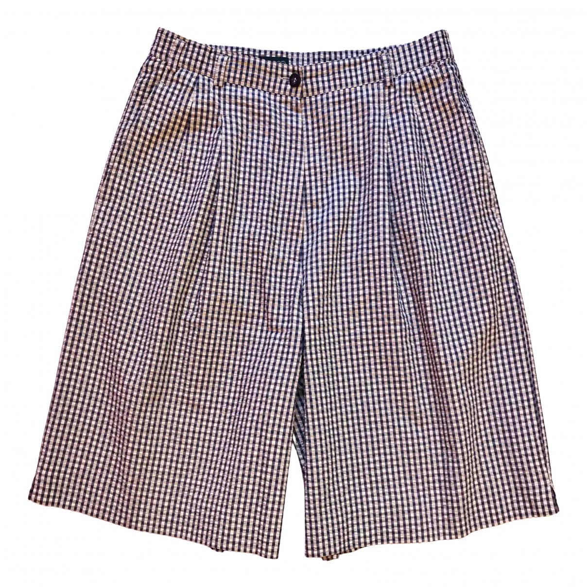 Non Signé / Unsigned \N Multicolour Cotton Shorts for Women 44 IT