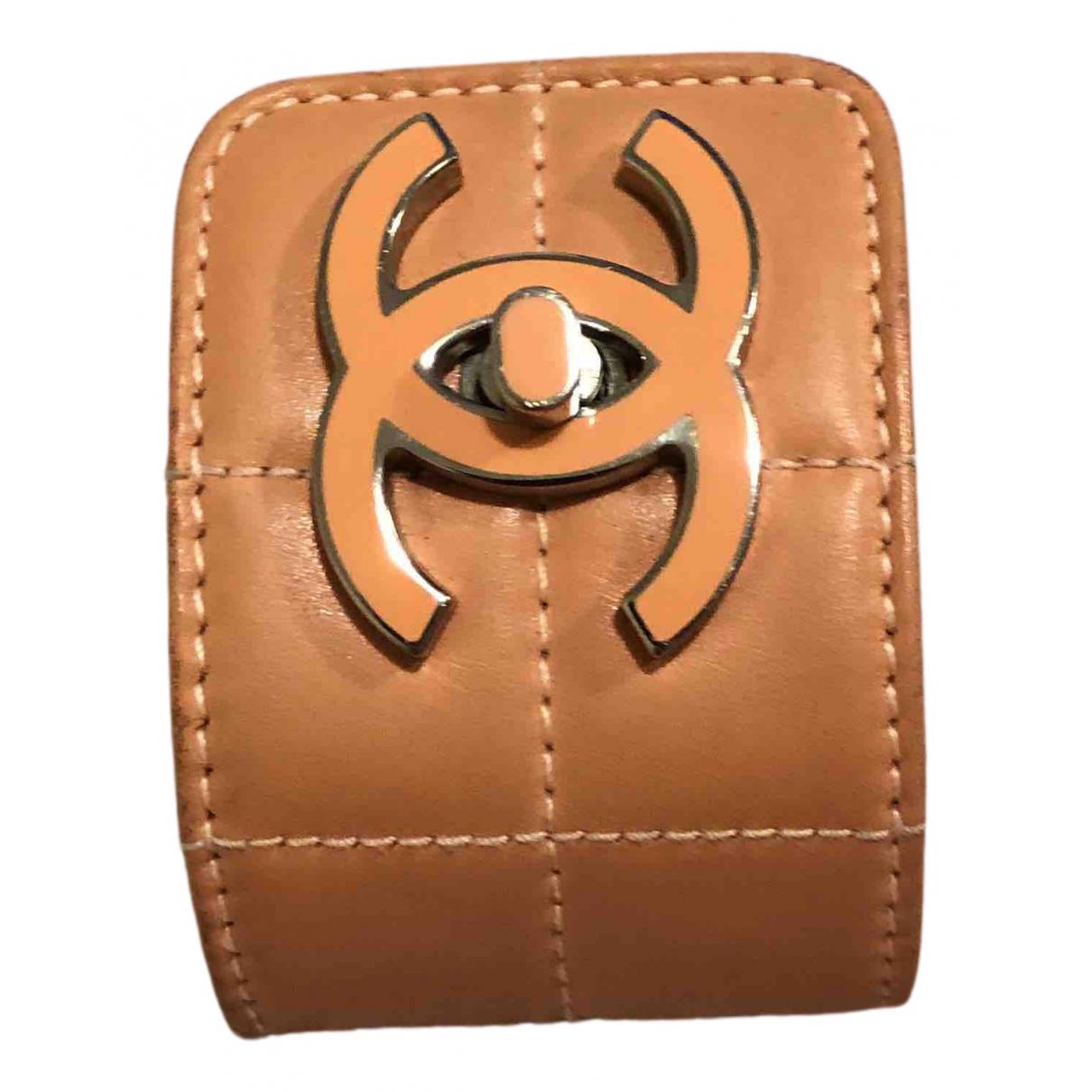 Chanel - Bracelet   pour femme en cuir - camel