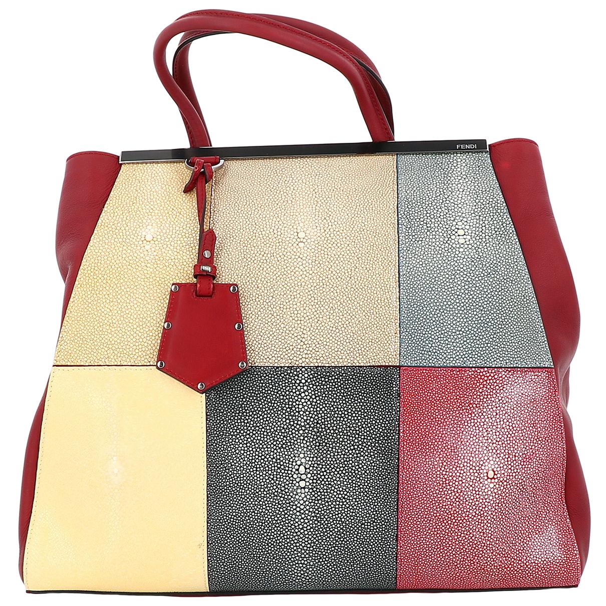 Fendi 2Jours Multicolour Leather handbag for Women N