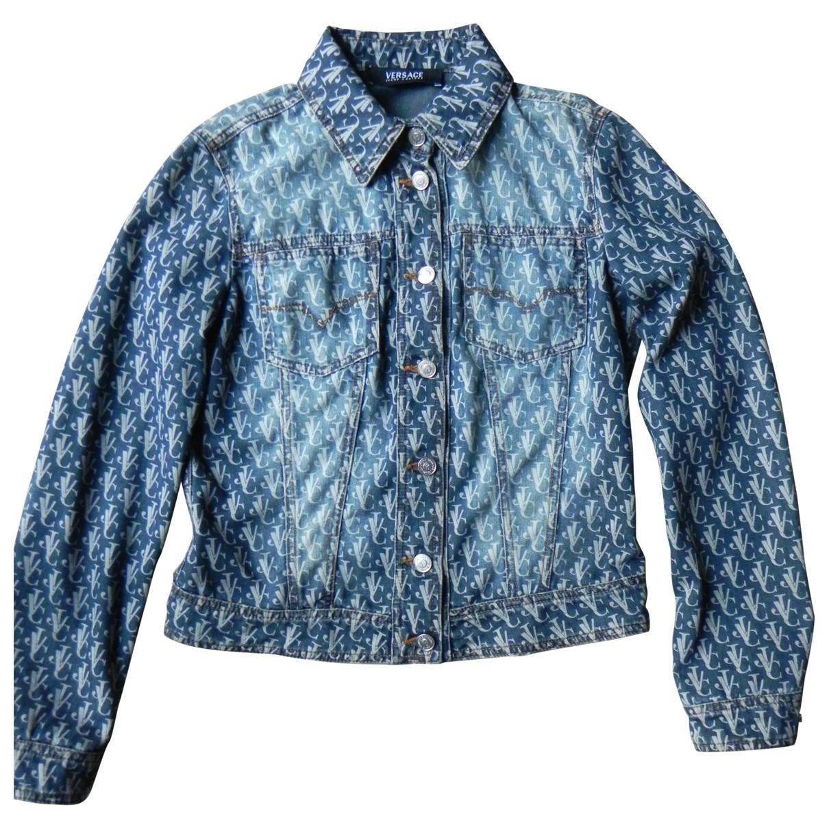 Versace Jean - Veste   pour femme en coton - bleu