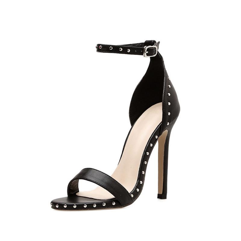 Ericdress Line-Style Buckle Stiletto Heel Rivet Sandals