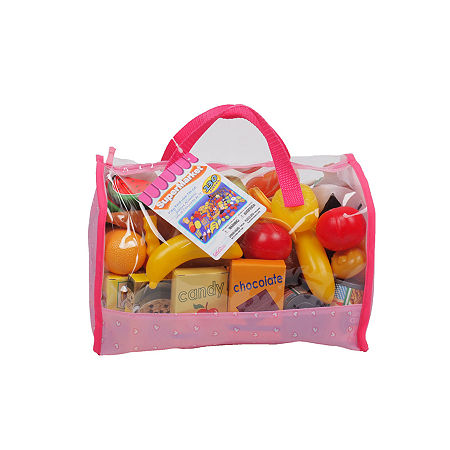 Play Food In Carry Bag (120 Piece), One Size , Multiple Colors