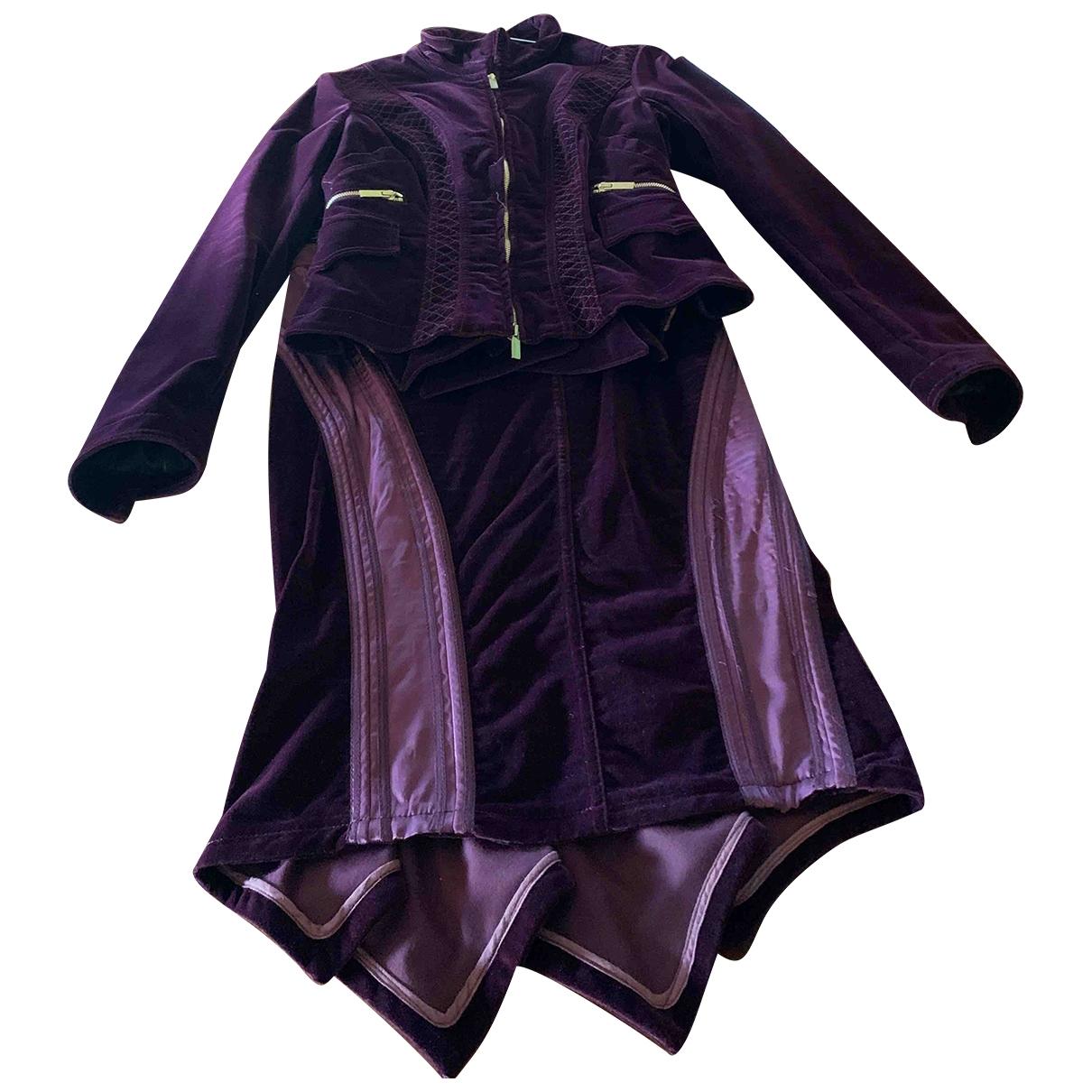 Roberto Cavalli \N Kleid in  Lila Samt