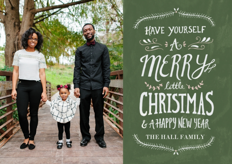 Christmas Photo Cards Flat Glossy Photo Paper Cards with Envelopes, 5x7, Card & Stationery -Merry Little Christmas
