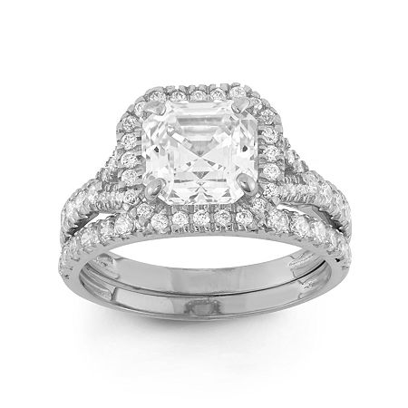 Womens 2 CT. T.W. White Cubic Zirconia 10K Gold Round Solitaire Engagement Ring, 7 , No Color Family