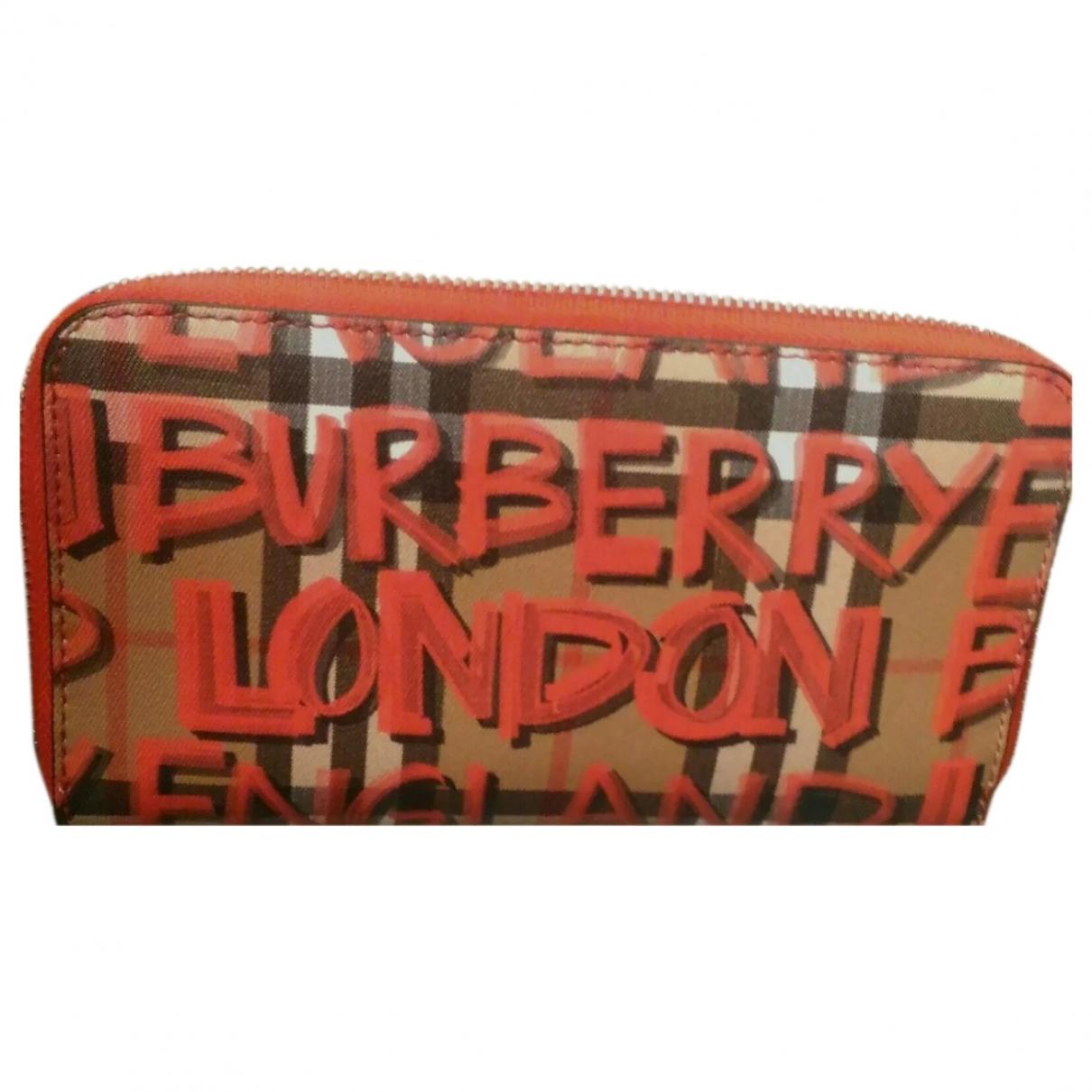 Burberry - Portefeuille   pour femme en cuir - multicolore