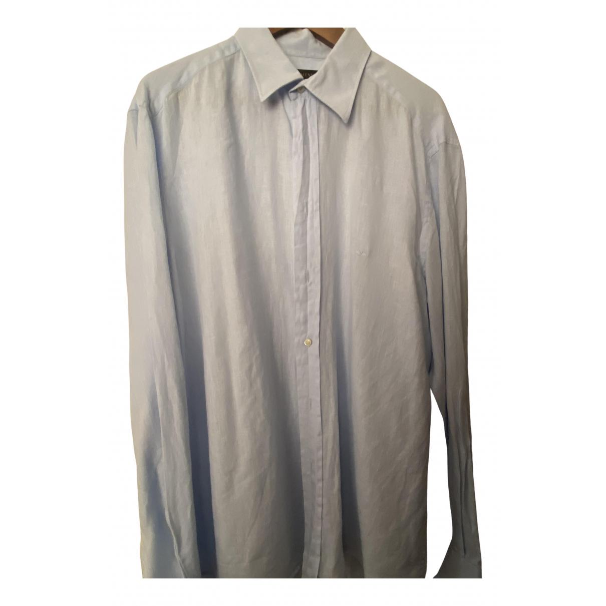 Valentino Garavani - Chemises   pour homme en lin - bleu