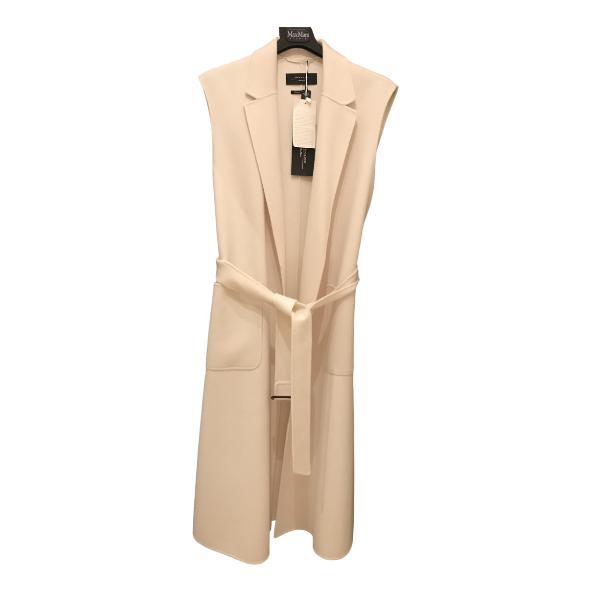 Max Mara \N Ecru Wool coat for Women 46 IT