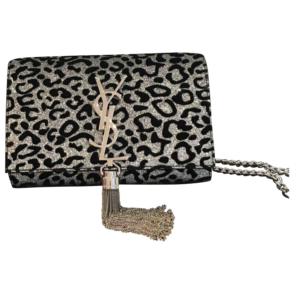Saint Laurent Pompom Kate Metallic Glitter handbag for Women \N