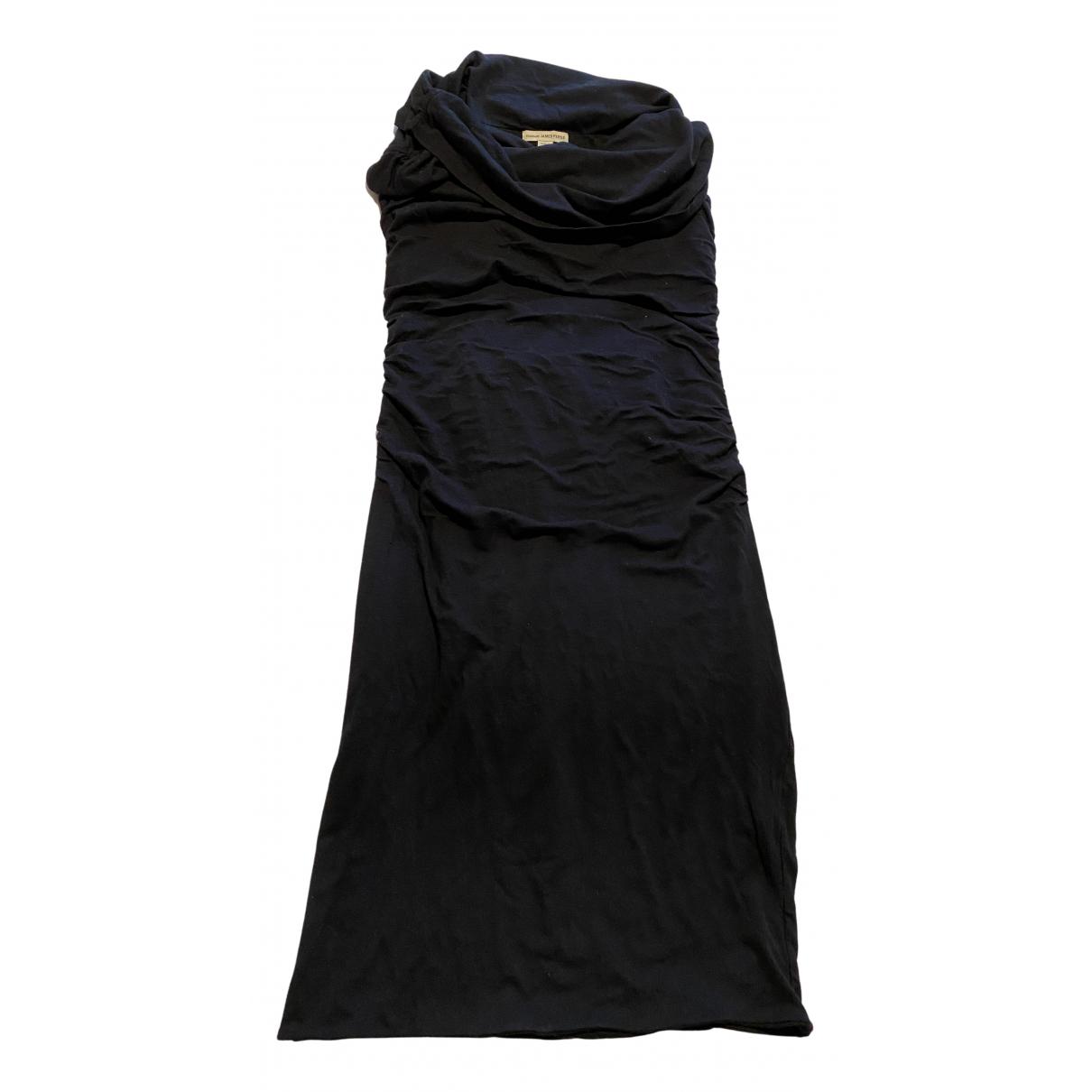 James Perse \N Kleid in  Schwarz Baumwolle - Elasthan