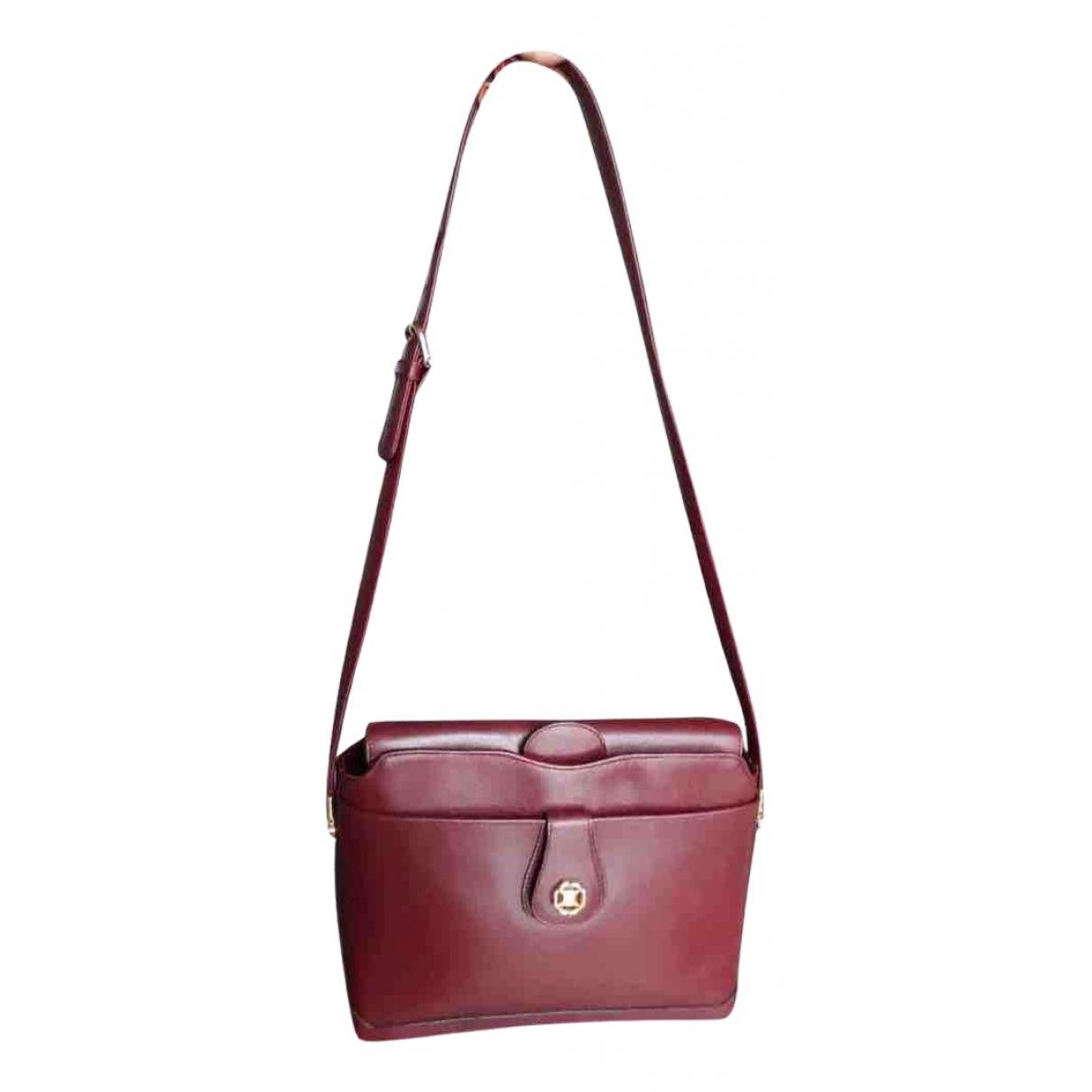 Celine Triomphe Vintage Burgundy Leather handbag for Women N