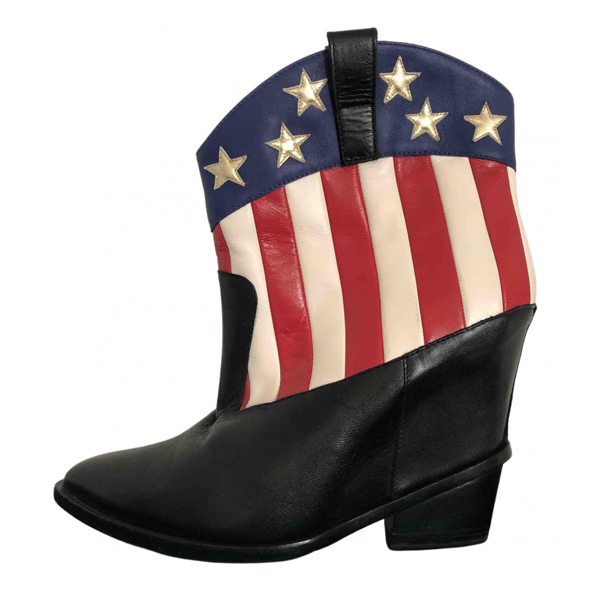 Giuseppe Zanotti \N Multicolour Leather Ankle boots for Women 42 EU