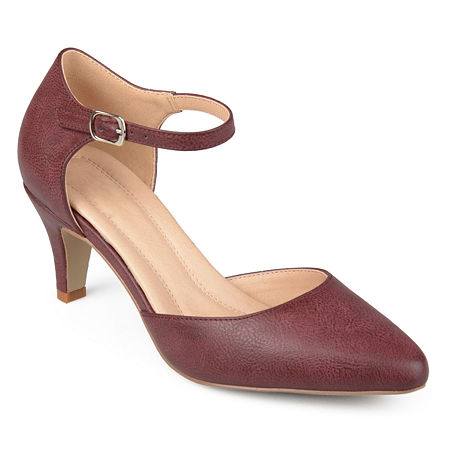 Journee Collection Womens Bettie Pumps Stiletto Heel, 7 Medium, Red