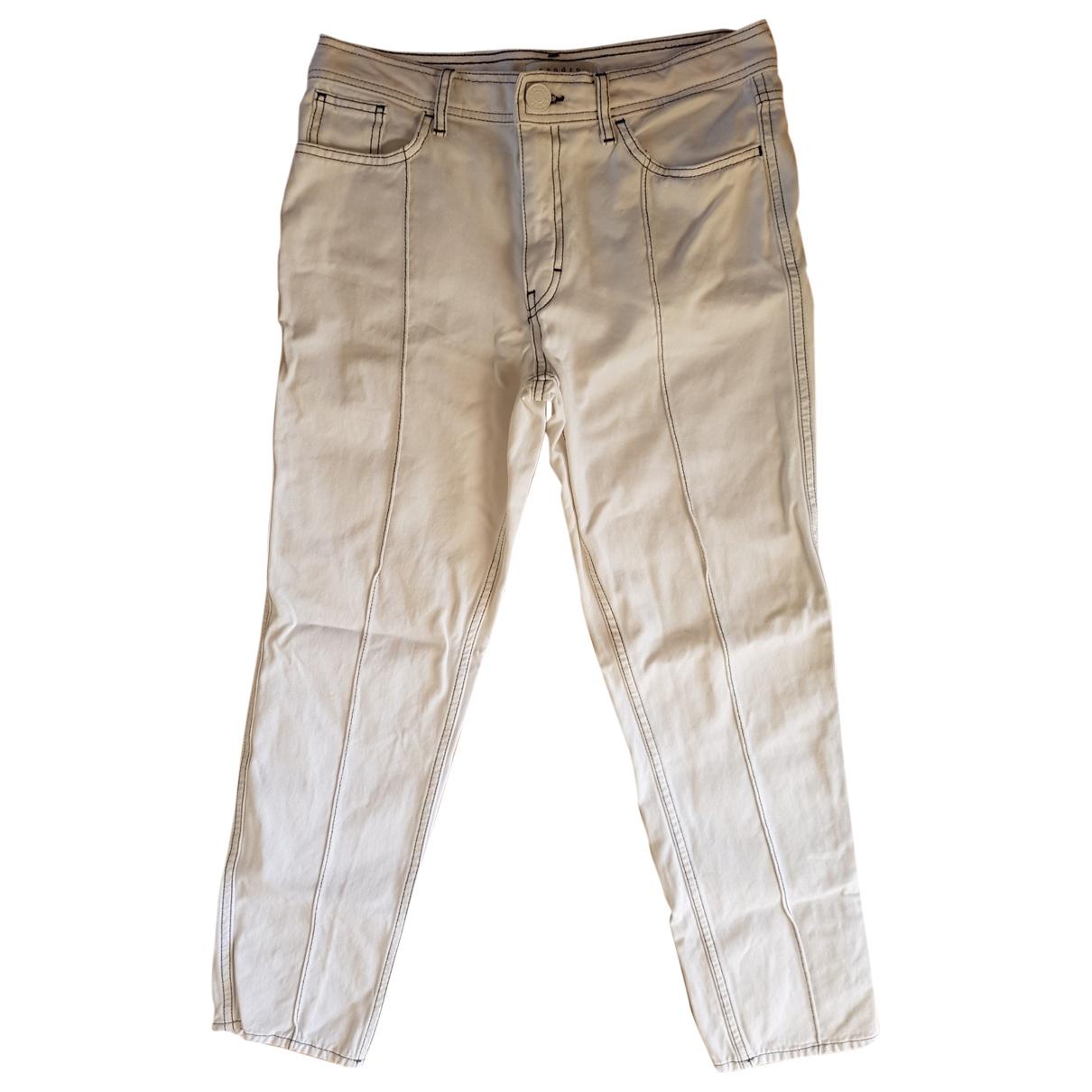 Sandro \N Jeans in  Weiss Denim - Jeans