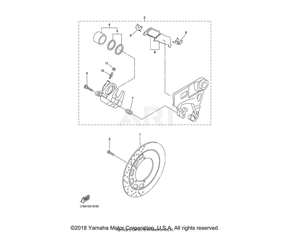 Yamaha OEM 3P6-25914-00-00 PIN, SLIDE