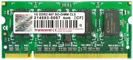 Transcend 1 GB DDR2 RAM 667MHz SODIMM 1.8V