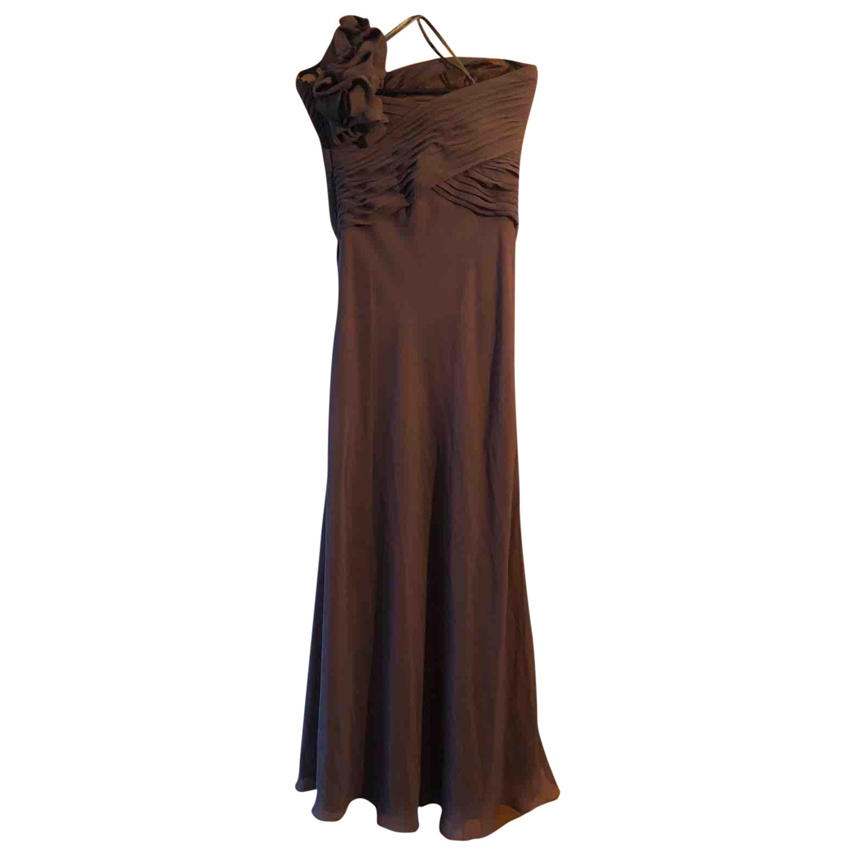 Maxi vestido de Seda Guy Laroche