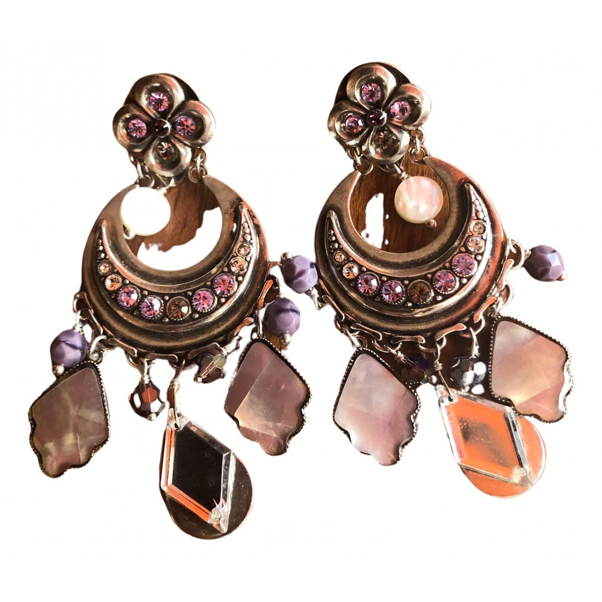 Reminiscence - Boucles doreilles   pour femme en acier - violet