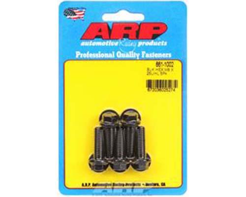ARP M8 x 1.25 x 25 Black Oxide Hex Bolts (5/pkg)