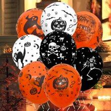 8 Stuecke Halloween Ballon & 1 Stueck Band
