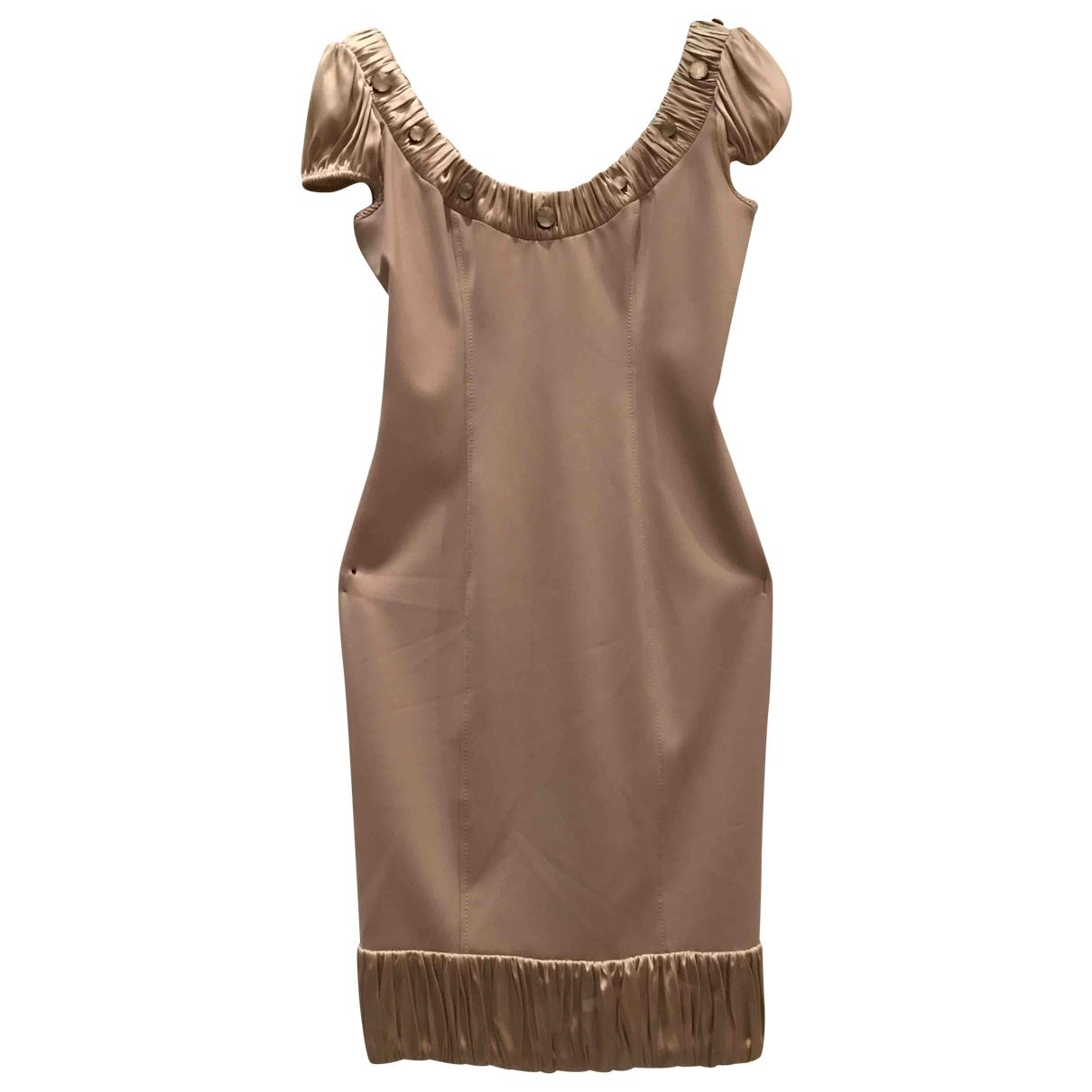 Blumarine \N Beige Wool dress for Women 42 IT