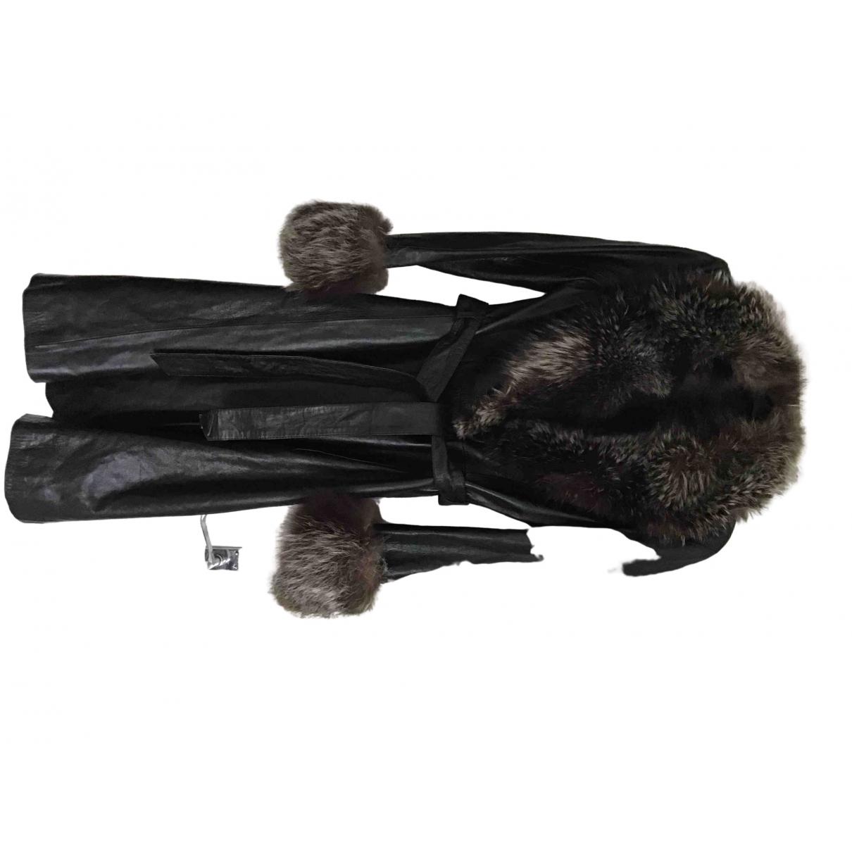 Loewe \N Black Leather coat for Women 16 UK