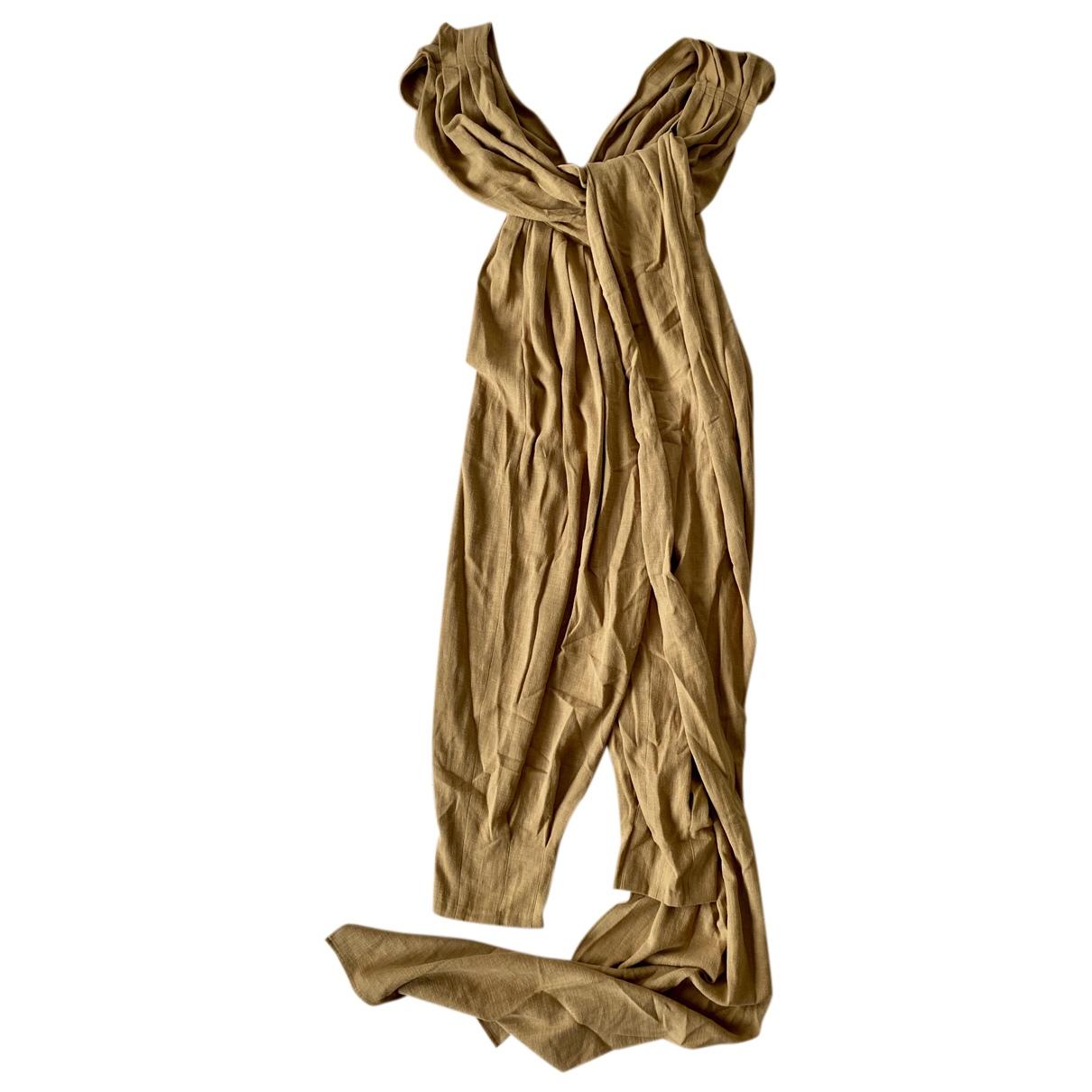 Bevza - Combinaison   pour femme en lin - camel