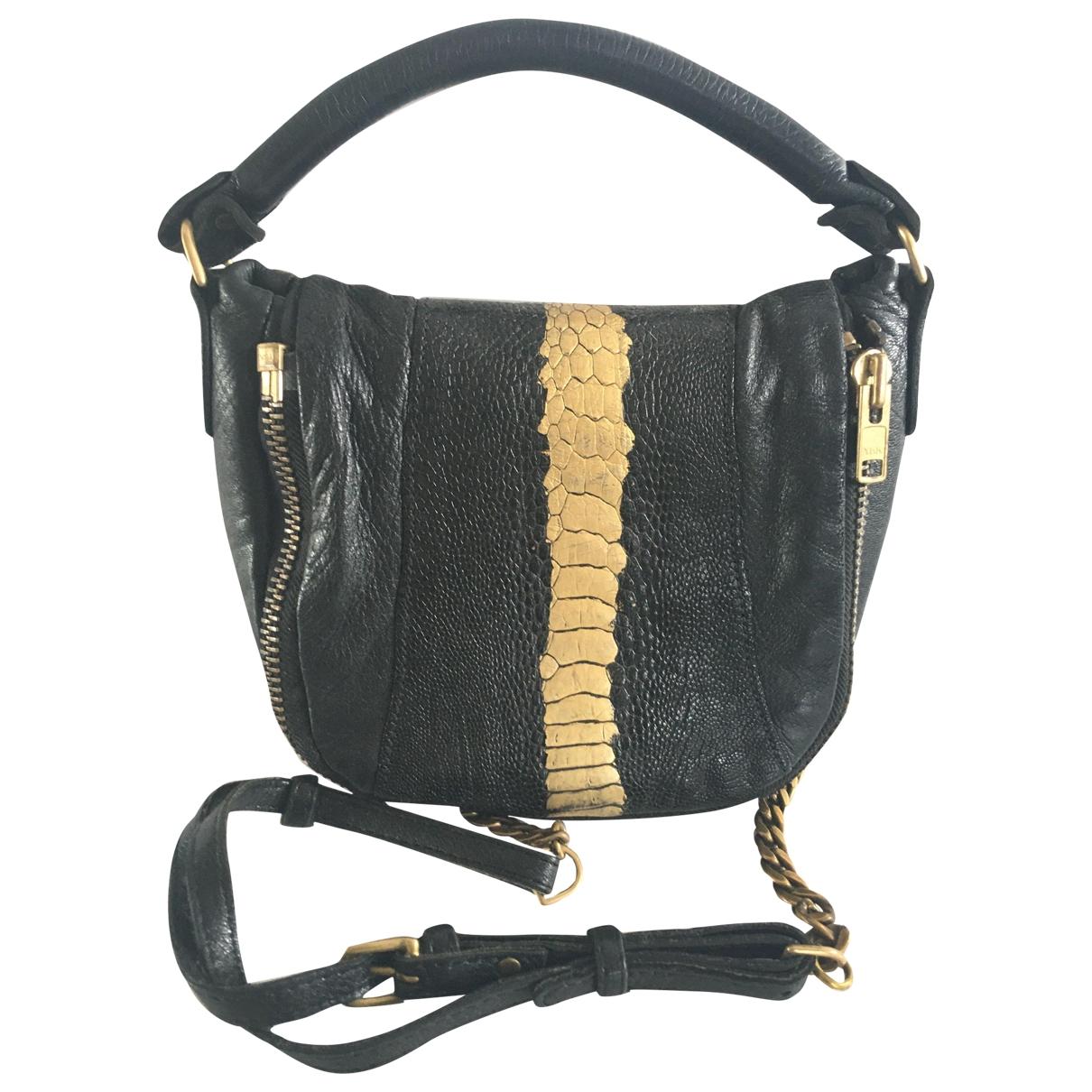 Deadly Ponies \N Black Leather handbag for Women \N