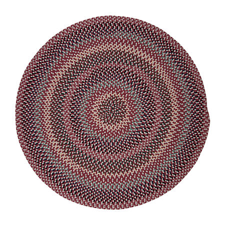 Colonial Mills Traditions Braided Round Reversible Indoor Rugs, One Size , Red