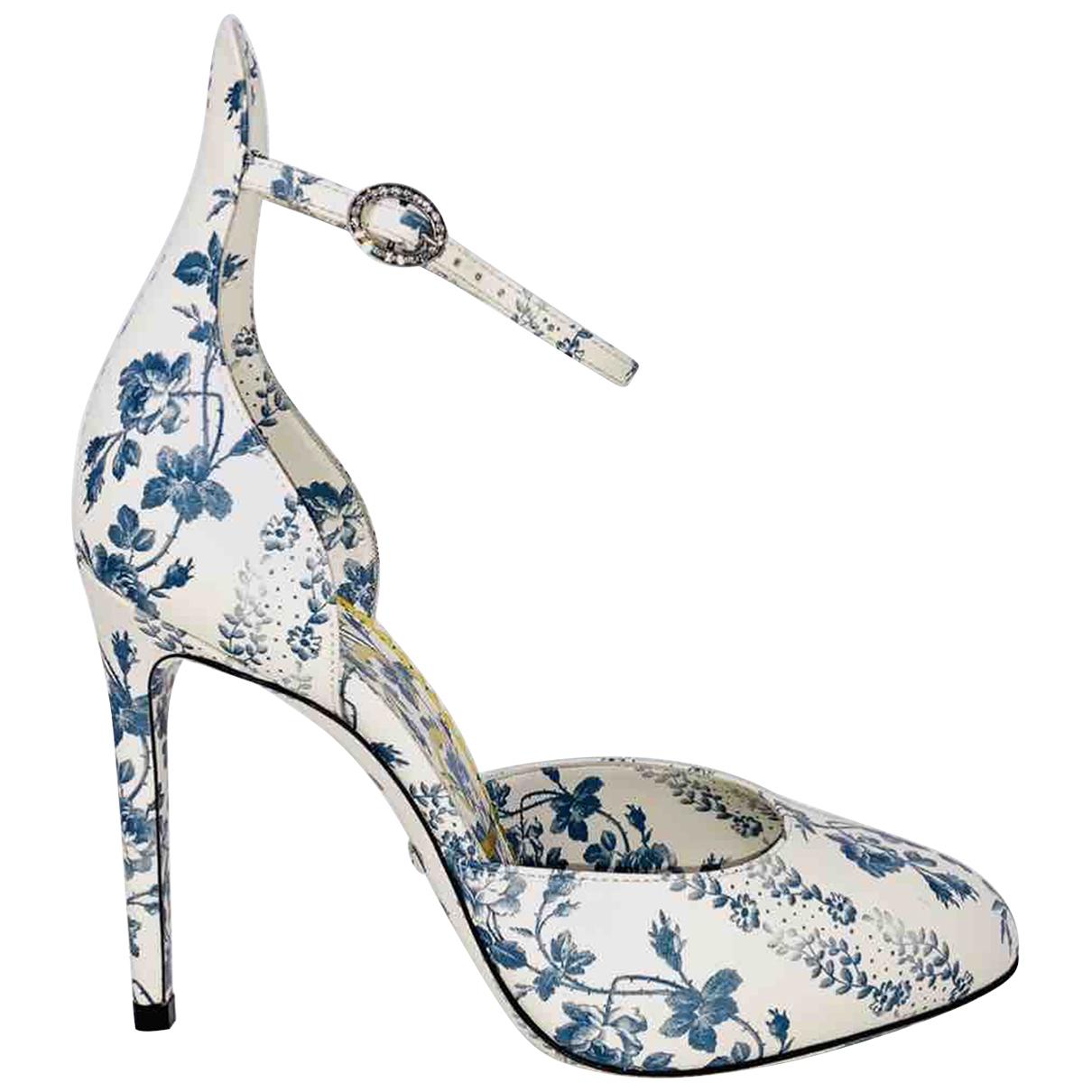 Gucci - Escarpins Malaga pour femme en cuir - blanc