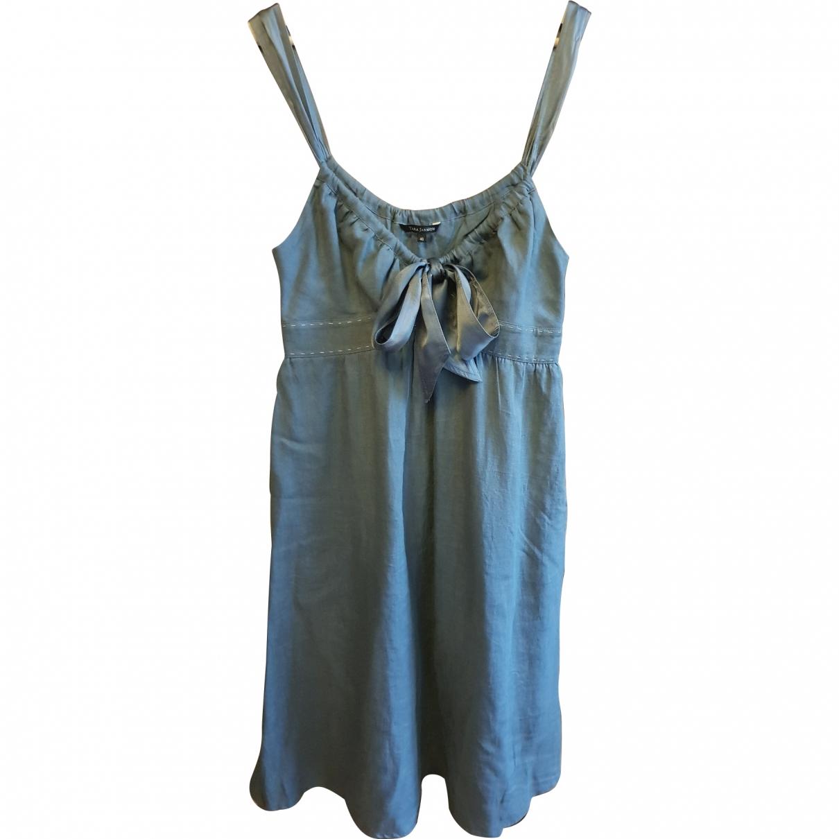 Tara Jarmon \N Blue Linen dress for Women 40 FR
