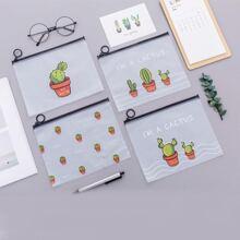 Cactus Print Pencil Case 4pcs