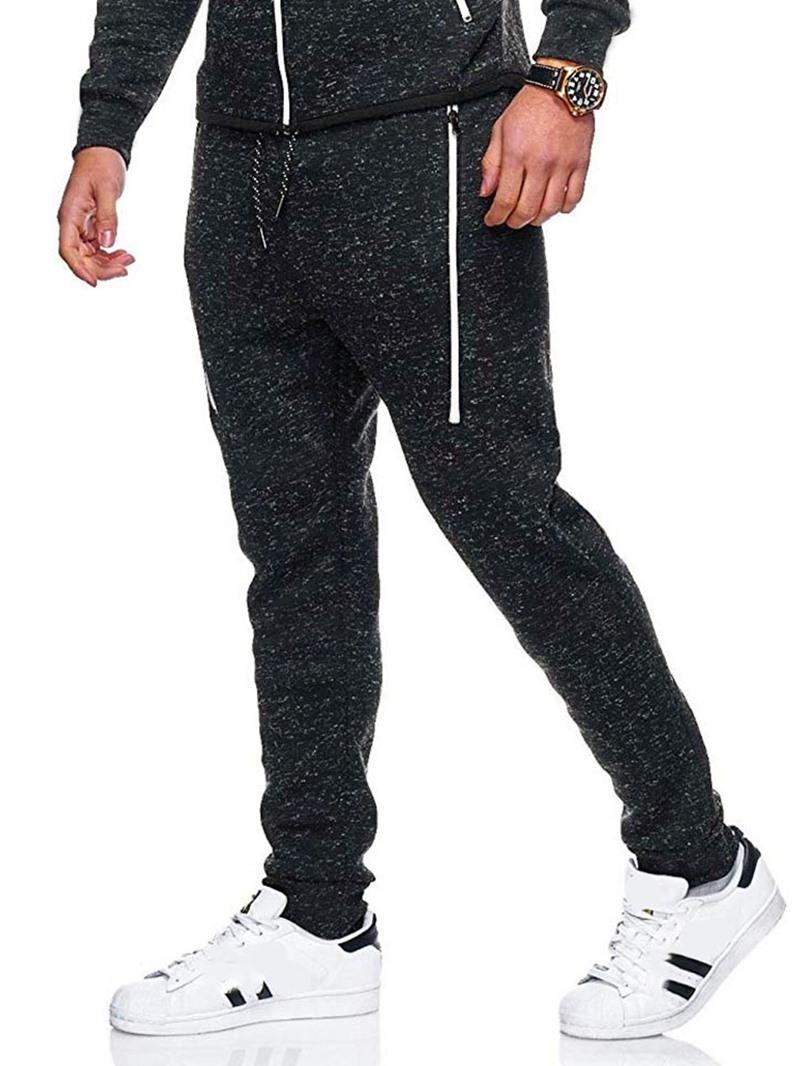 Ericdress Zipper Color Block Lace-Up Men's Casual Pants
