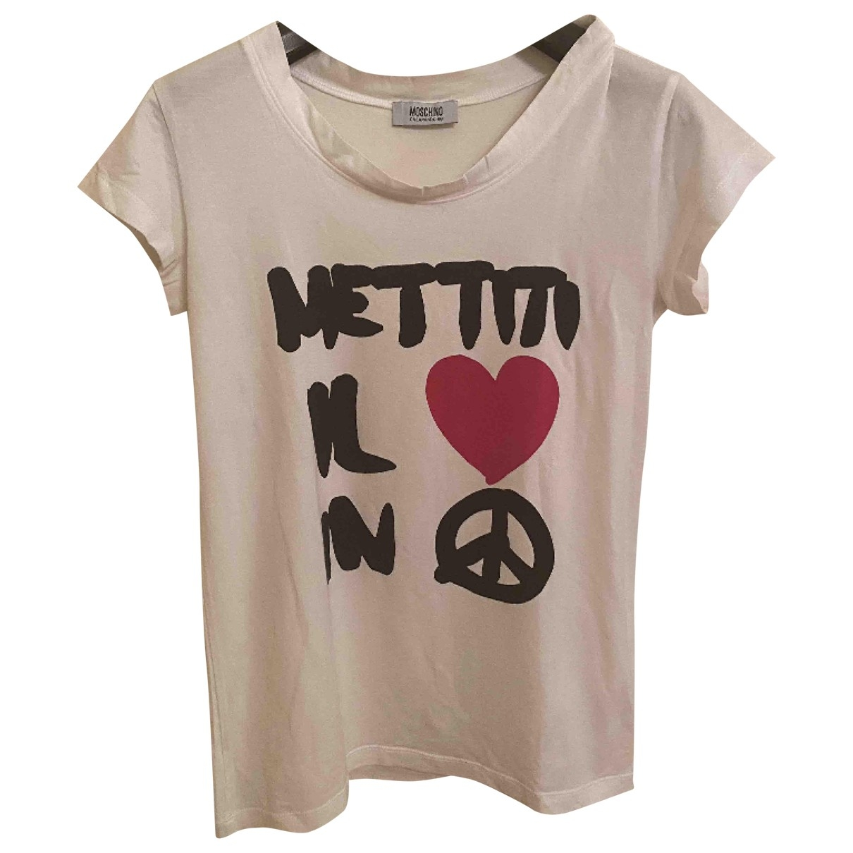 Moschino Cheap And Chic \N Top in  Weiss Baumwolle