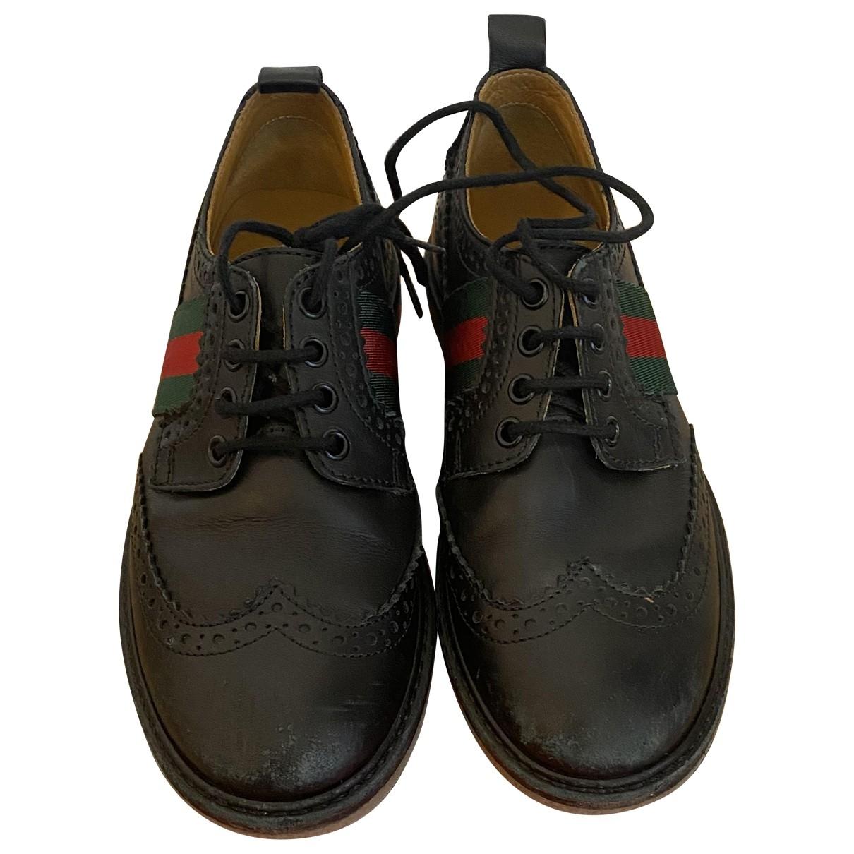 Gucci - A lacets   pour enfant en cuir - noir