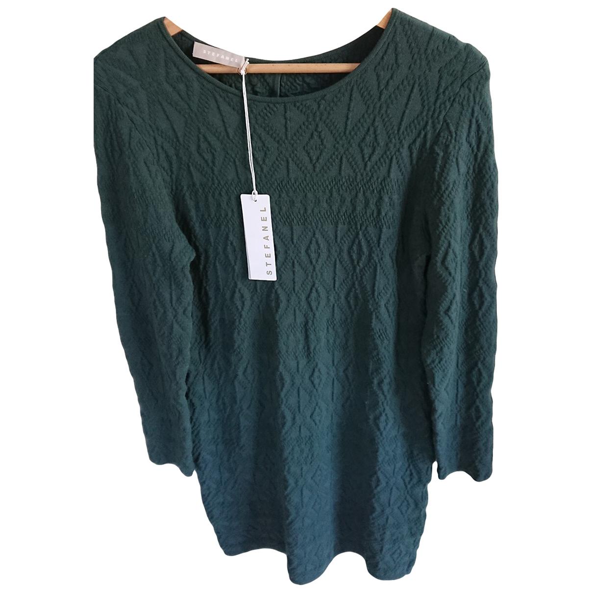 Stefanel - Robe   pour femme - vert